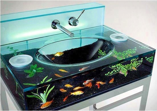 Awesome Aquarium Sink Via The Interiors On Facebook Home