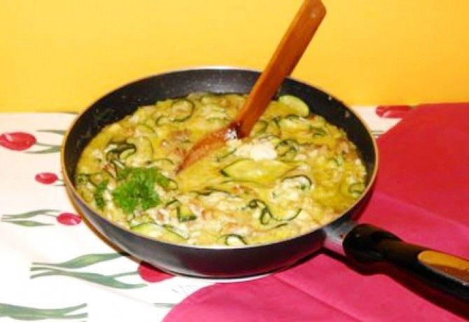 Cukkinis rizs csirkemelldarabokkal