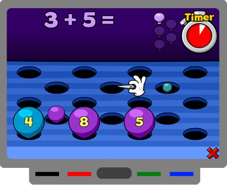 Math Popper game for SMART Board
