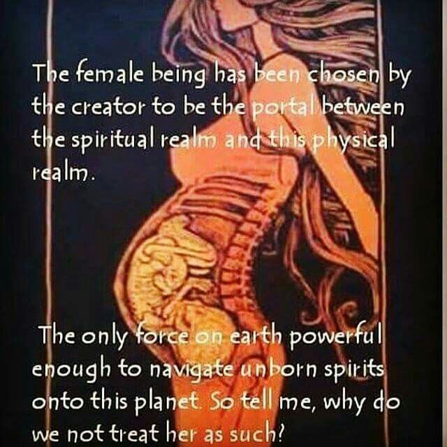 The female body is a sacred temple.