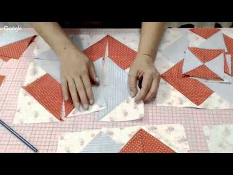 Patchwork Ao Vivo #47: método americano de costura rápida + bloco Card Trick - YouTube