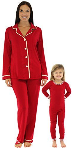 Matching Family Pajamas - A Fun Holiday Tradition - Baby to Boomer  Lifestyle. Bedhead Mommy   Me Matching Solid Red Stretch Pajamas - 5T a86be7a55