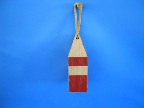 """Wooden Rustic Red Chesapeake Bay Decorative Crab Trap Buoy 8"""""""""""
