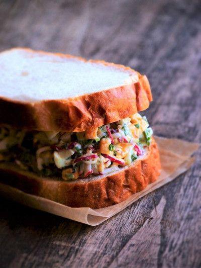 ラディッシュと玉子サラダのサンドイッチ by naomiさん | レシピブログ ...
