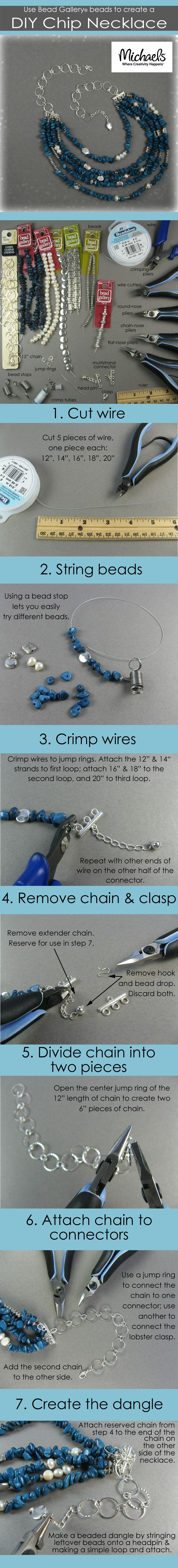 Learn how to make a multi-strand semi-precious stone chip bead necklace in today's Monday Make!
