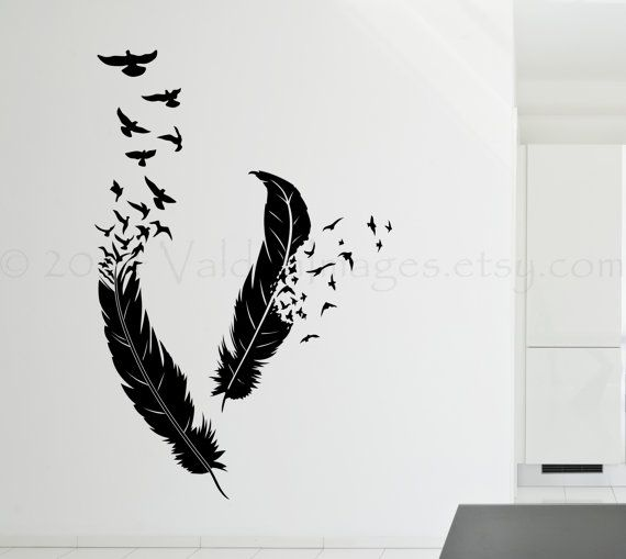 Birds of a feather wall decal bird wall decal boho by ValdonImages