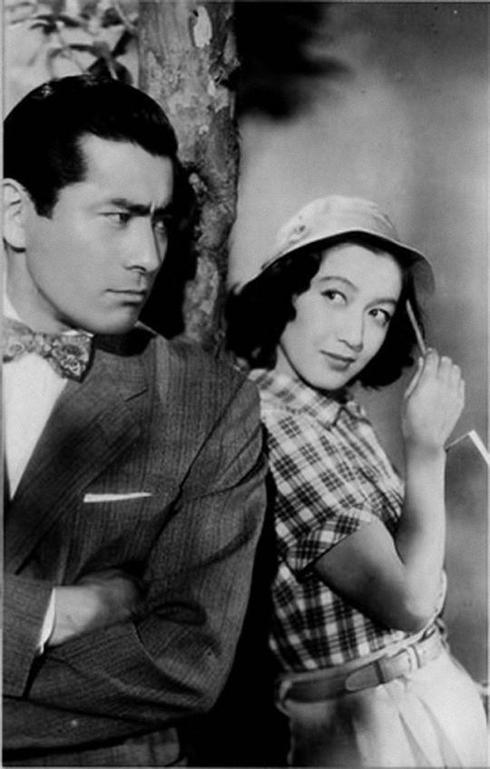Toshiro Mifune and Setsuko Hara for 'Tokyo Lover', 1952