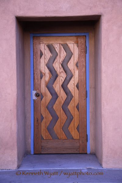 Santa Fe, New Mexico, door, doorway, color photo