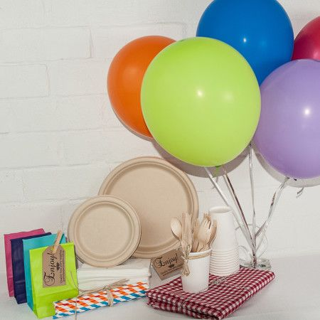 Eco rainbow Party package. Great value delivered to your door. http://www.qualitytimepartysupplies.com.au/shop/eco-party-packages/eco-rainbow-party-package/