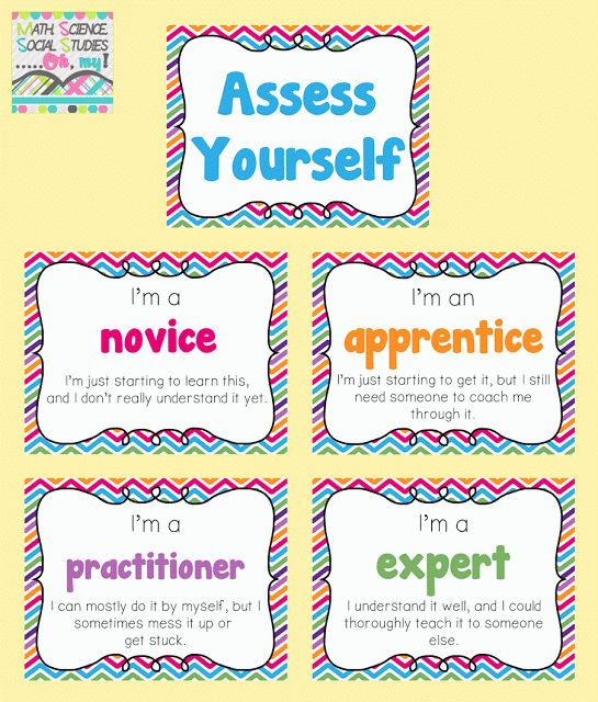 Best Classroom SelfAssessment Images On   Student