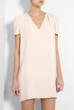 Vanessa Bruno Nude Puff Sleeve Tunic Dress