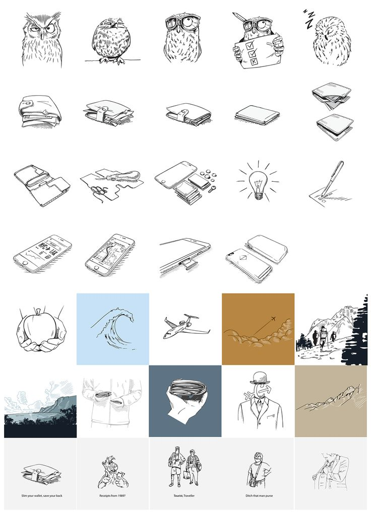 Sketches & Graphics on Behance - medley icons, product sketch, scenes