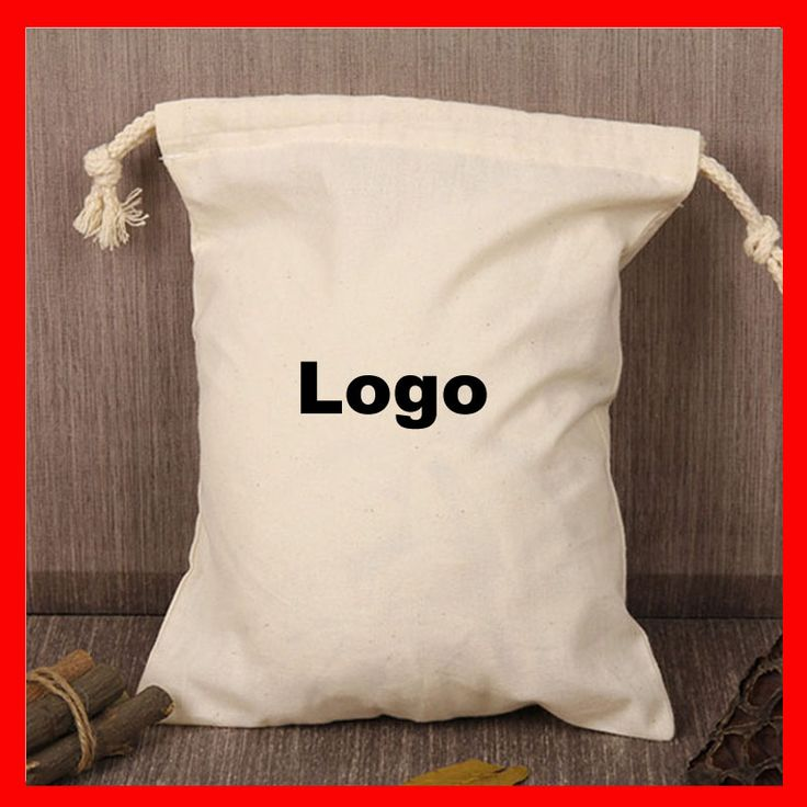 (1000pcs/lot ) size eco friendly cotton drawstring bag with custom printed company logo