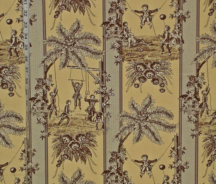 Victorian Children's Toile Fabric