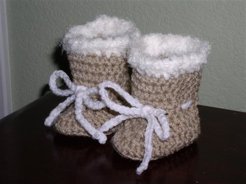Free Crochet Pattern Baby Ugg Booties : baby uggs - crochet free pattern AG doll ass. Pinterest