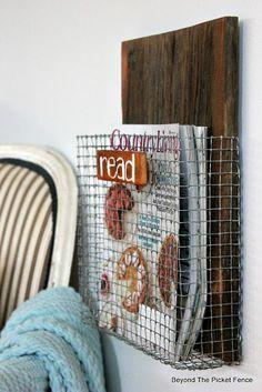 Project Challenge: Chicken Wire/Screen, Magazine Holder