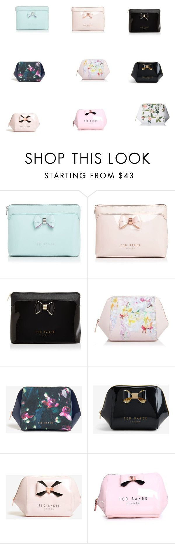 """Ted Baker wash and make-up bags"" by rachael-adegpke on Polyvore featuring Ted Baker"