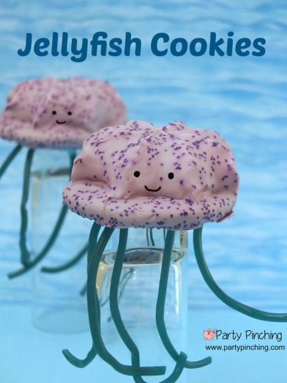 No bake jellyfish cookie tutorial using Little Debbie cookies