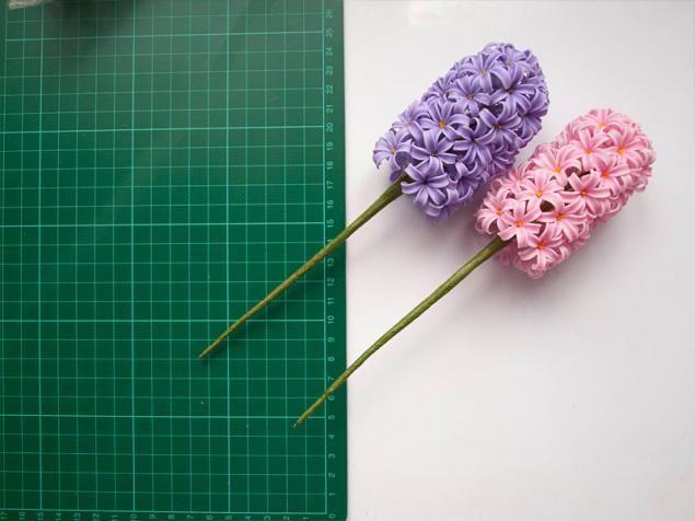 Цветы из холодного фарфора - Часть 2. Гиацинт. Подробный МК для начинающих - Ярмарка Мастеров - ручная работа, handmade