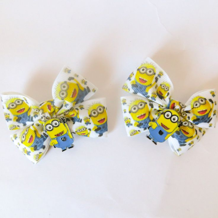 A personal favorite from my Etsy shop https://www.etsy.com/uk/listing/251874631/minions-hair-with-minion-charm-hair-bows