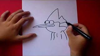 como dibujar a mordecai - YouTube
