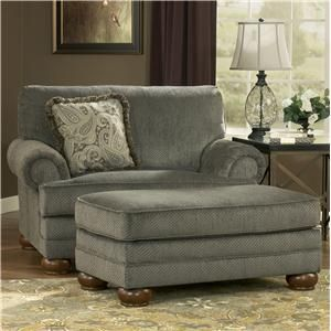 Signature Design by Ashley Parcal Estates - Basil Chair and a Half and Ottoman - 7400523+7400514