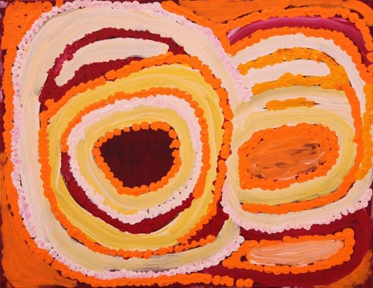 Jakayu Biljabu - 36x46cm - Untitled, 2011 / IDAIA - International Development for Australian Indigenous Art