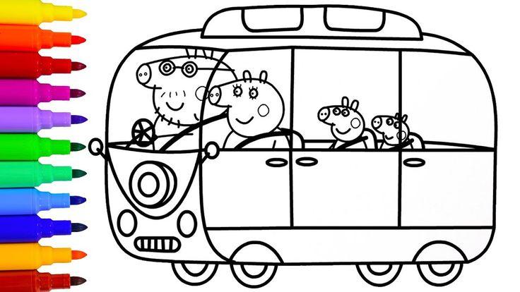 Peppa Pig Camper Van Coloring Pages