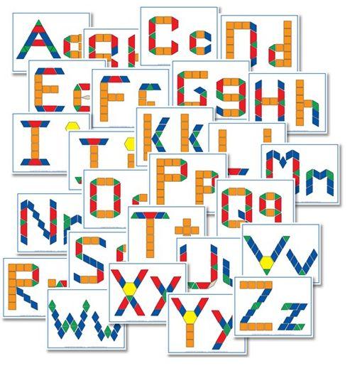Educational Freebie: Alphabet Pattern Block Printables | Money Saving Mom®
