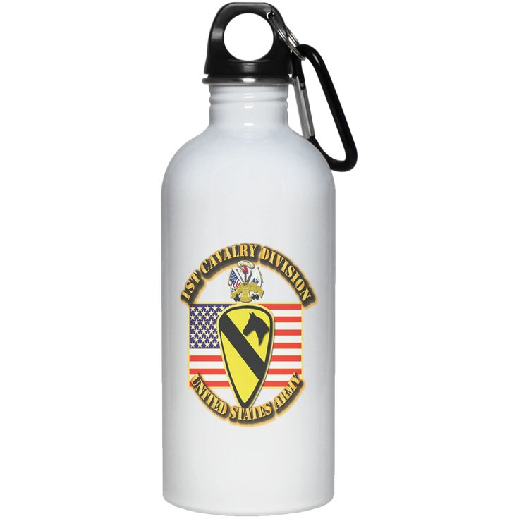 1ST CAVALRY DIVISION W FLAG 23663 20 oz. Stainless Steel Water Bottle
