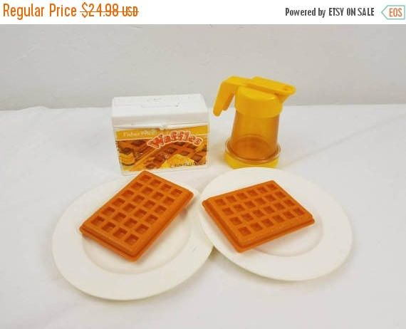 On Sale Vintage Fisher Price  Waffles and Syrup Fun with Food