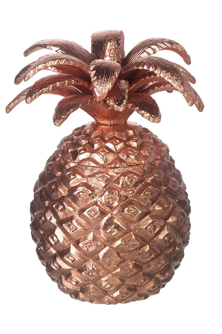Pineapple Wax Filled Candle Copper