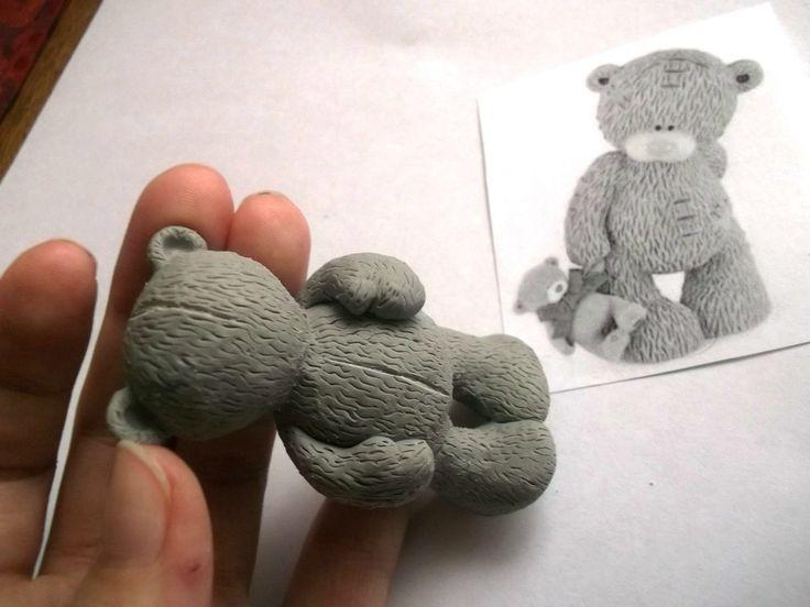 Great step by step - Мишка Тедди - Все о полимерной глине.