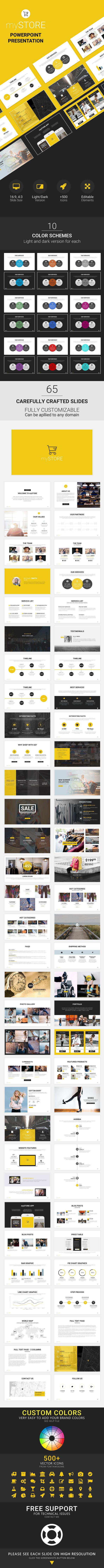 myStore - Powerpoint Presentation Template