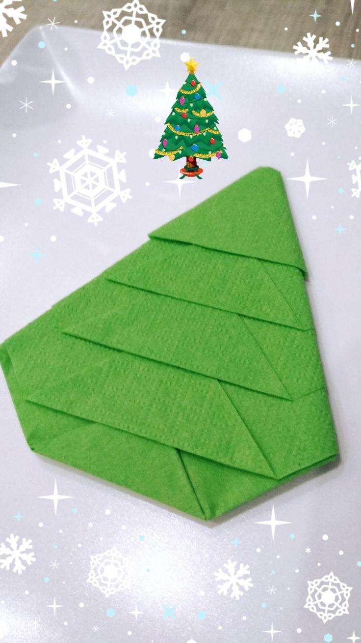 Χριστουγεννιάτικο δέντρο από χαρτοπετσέτα