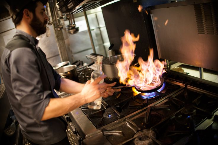 Preparing delicious meals inside The Albion kitchen