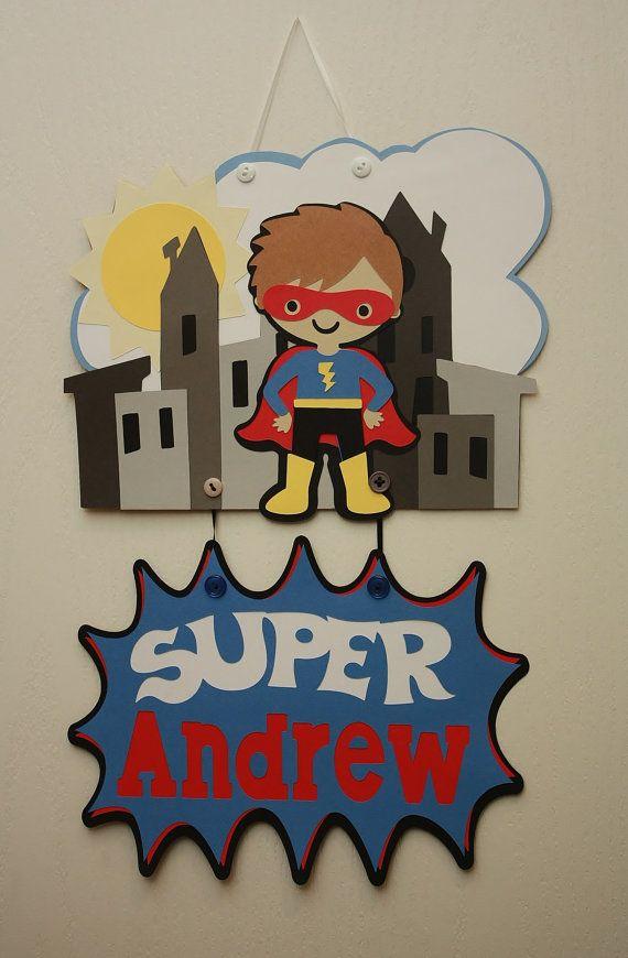 Superhero Name Sign Hero Custom Door Sign Girl By PaperMeUp