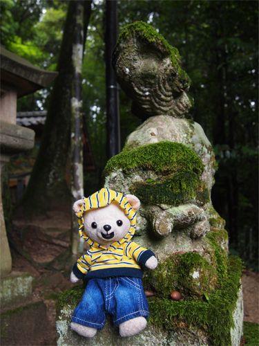 玉作湯神社の狛犬さんと☆