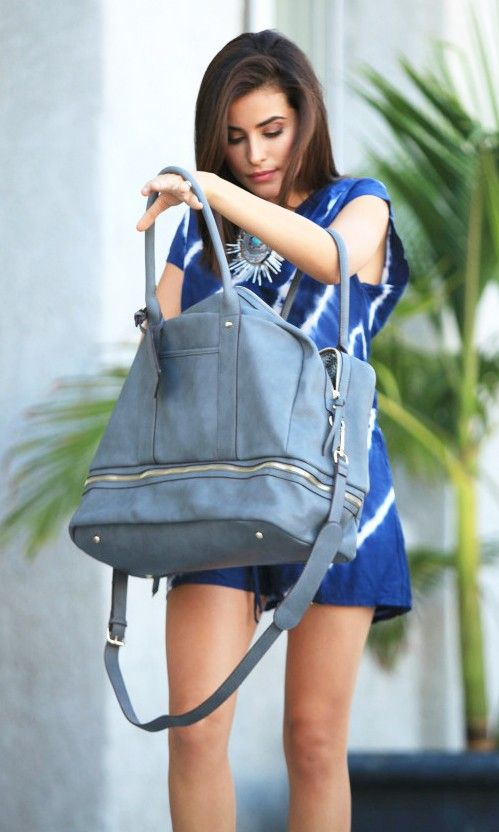 The perfect weekender bag with a bottom shoe compartment