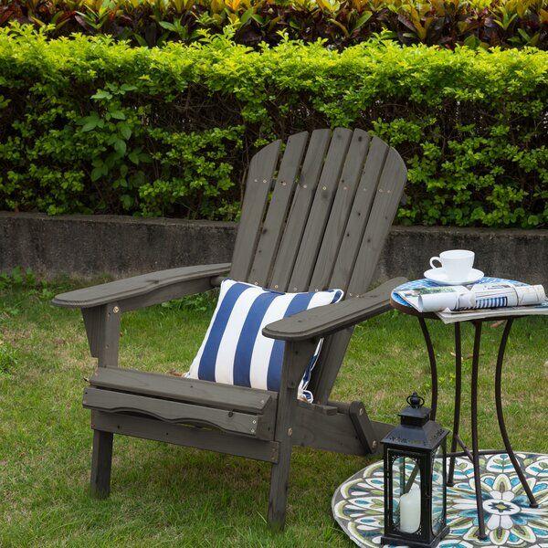 Cuyler Solid Wood Folding Adirondack Chair Wooden Adirondack