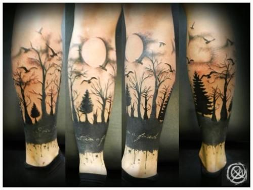 awesome! I would totally get this as a henna for October one year. Maybe turn the moon into a jacko'