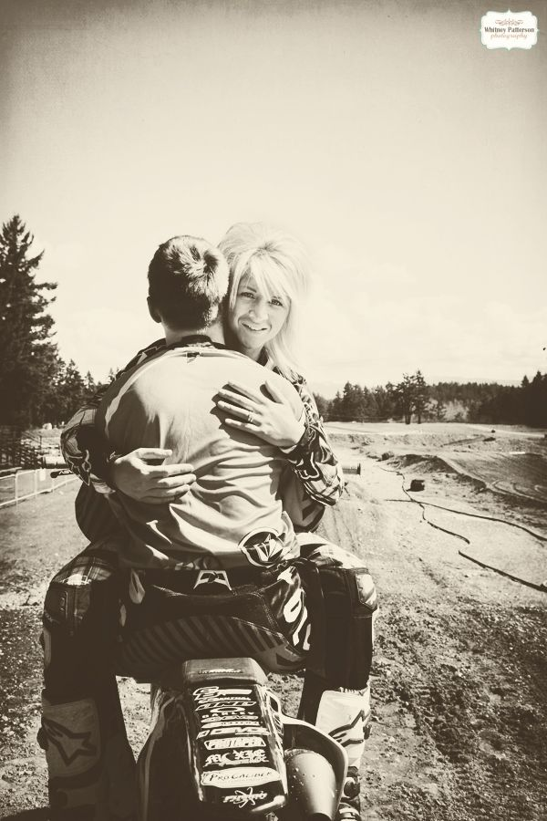 Engagement Photography  Motocross, Dirt Bike Engagement By Whitney Patterson Photography {www.facebook.com/WhitneyPattersonPhotography}{www.whitneypattersonphoto.com} Sarah + Bear Hause