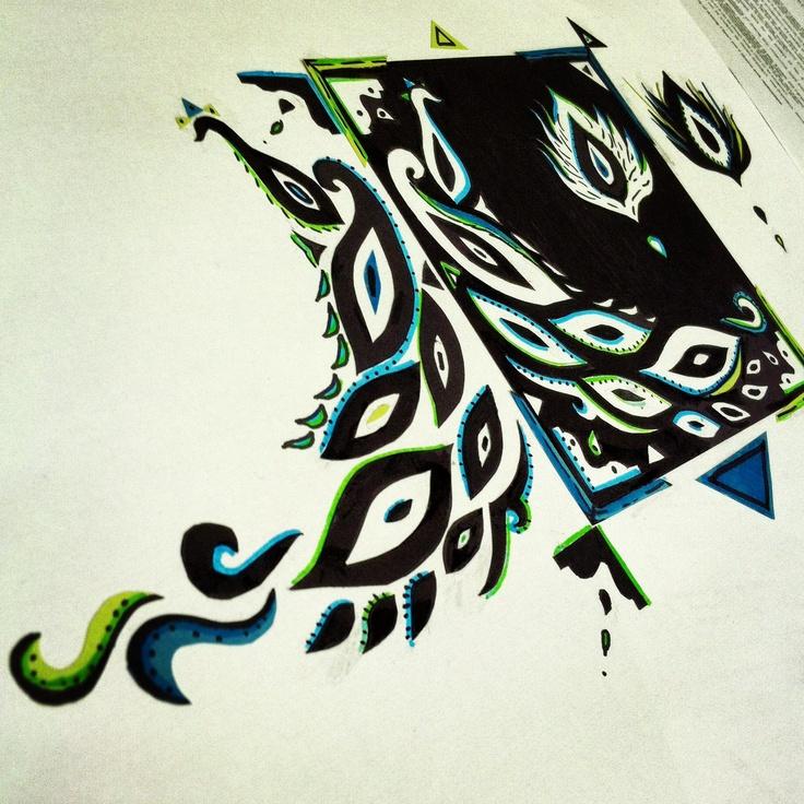 NOTAN DESIGN Space - positive/negative , Balance + Color  Notan design
