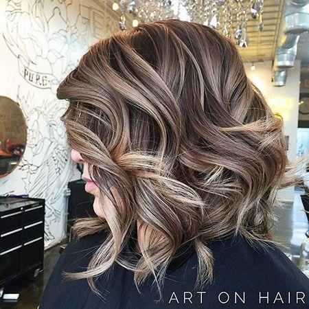 12 Blonde Highlights Auf Kurzen Braunen Haaren Hair Pinterest