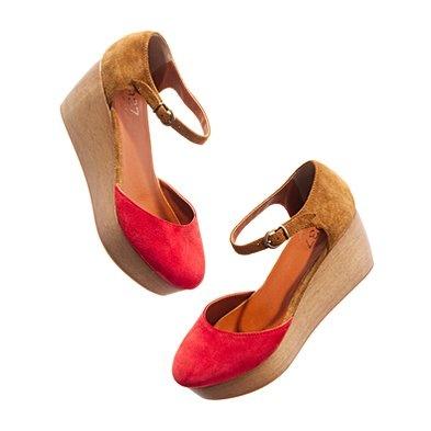 the two-tone flatstack platform: Madewell Twoton, Flatstack Platform, Tones Platform, Red Shoes, Summer Shoes, Two Ton Flatstack, Style Pinboard, Platform Shoes, Madewell Shoes