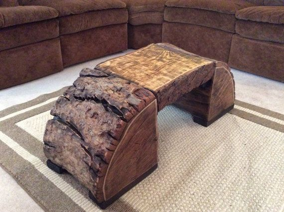 Round Wood Coffee Table by GeppettosGarage on Etsy