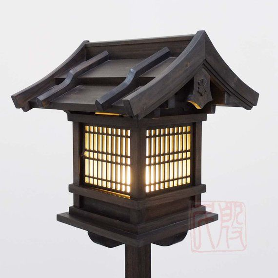 Japanese Style Lantern Made Of Solid Fir Wood Wl2