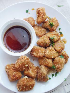 Μπουκιές μελιτζάνας με sauce μελιού / Eggplant bites with honey sauce