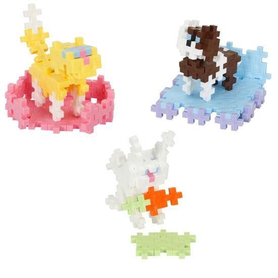 plus-plus mini 170 pieces- pets in pastel colours
