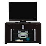 """$499.99 Get the ultra in entertainment when you purchase the Ultra TV Stand.  Plenty of room for electronics.  Metal accents.  Glass shelves.  Holds most Flat Panel TV's up to 66"""".  View our wide assortment of TV Stands online or visit a store close to home!    SKU: 1436864 - Ultra 60"""" TV Stand   TV Stand - 60""""W x 16""""D x 33""""H"""